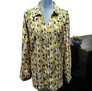 Sunny Leigh Womens Button down Blouse Size 3X